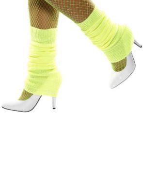 80s Leg Warmers - Neon Yellow